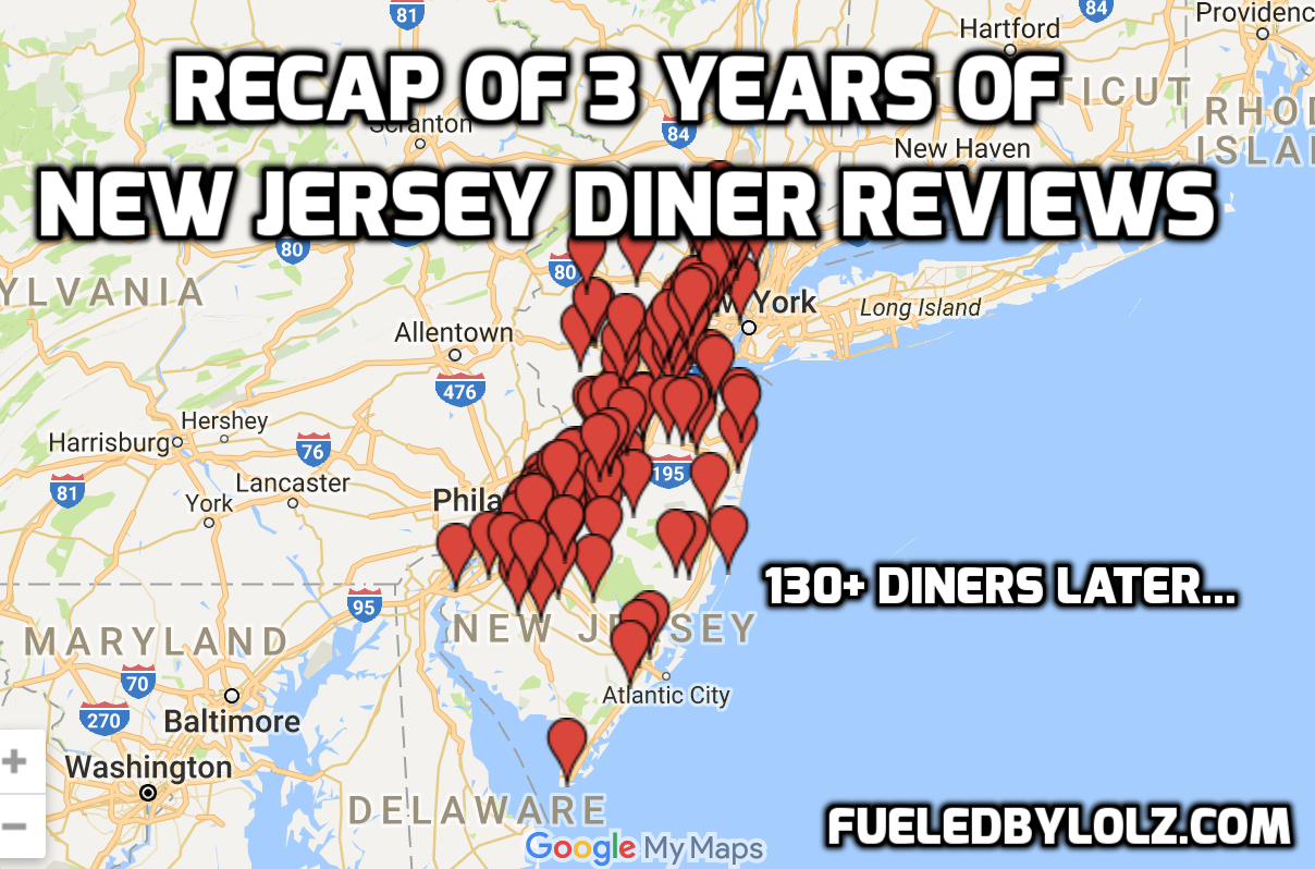 Recap of 3 Years of Diner Reviews