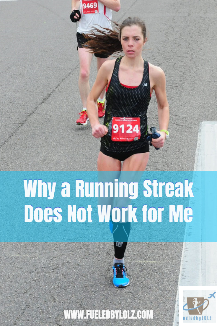Why a running streak does not work for me
