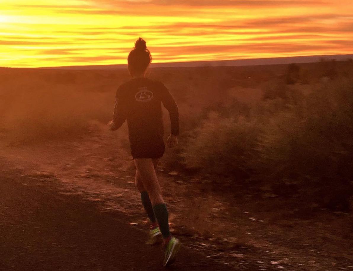 me running sunrise