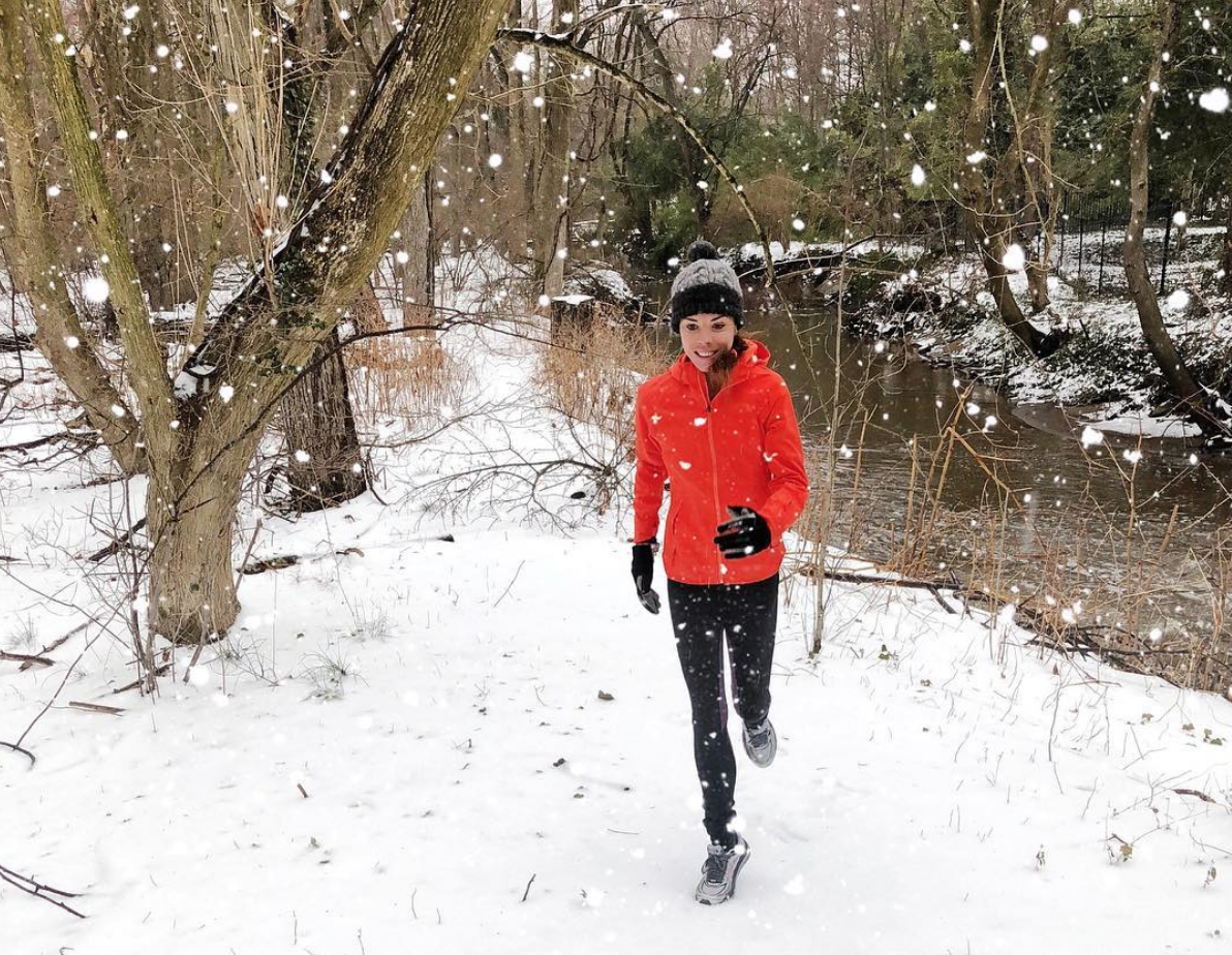 me running snow