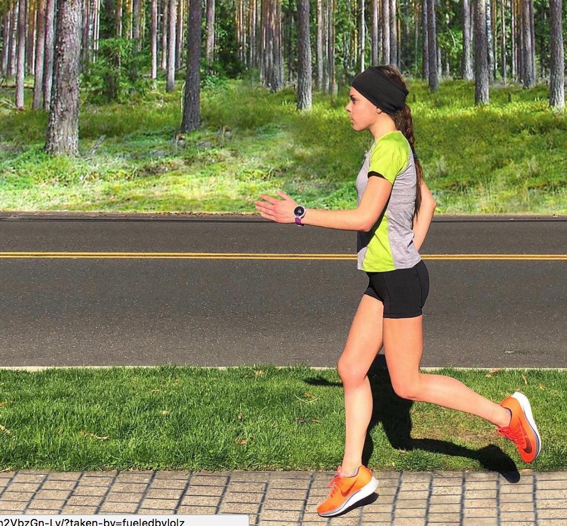 me running pines