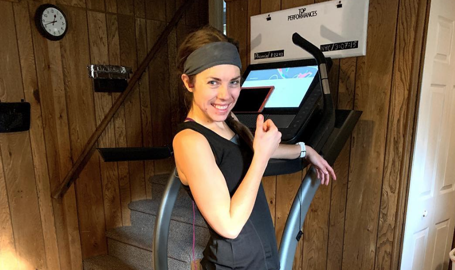 me running treadmill