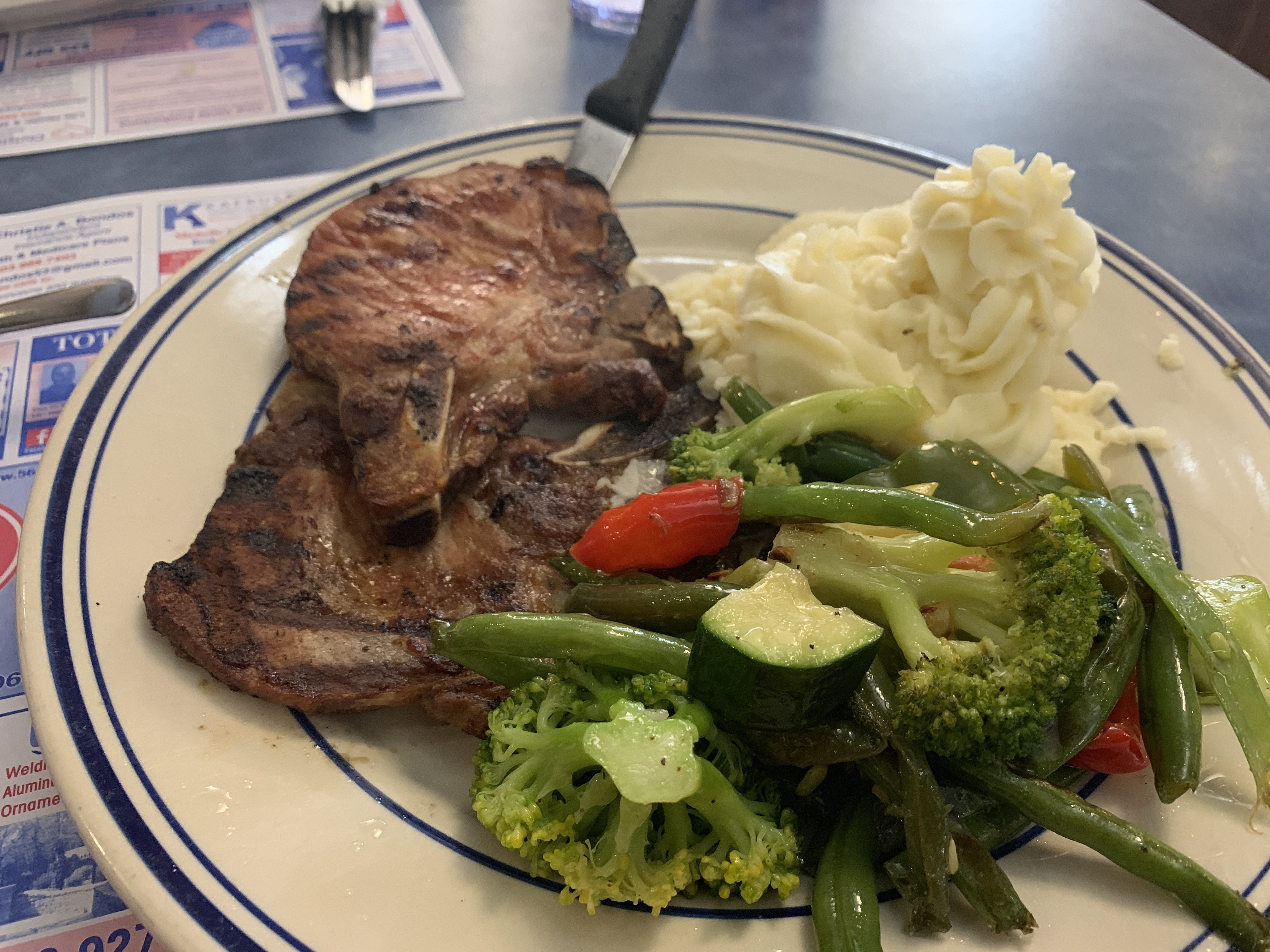 56 Diner Branford CT pork chops