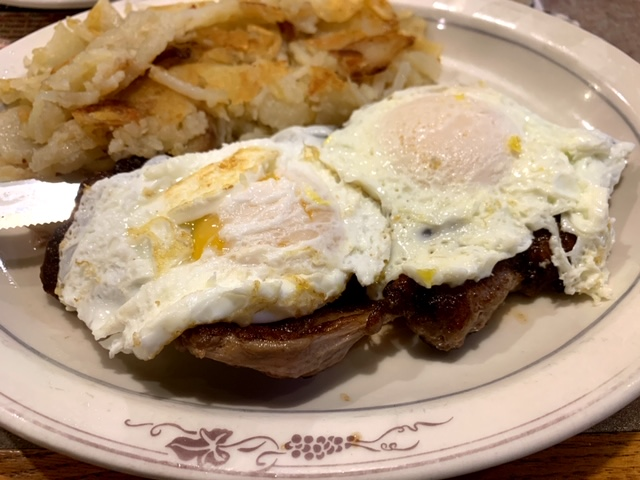 Yetter's Diner steak and eggs