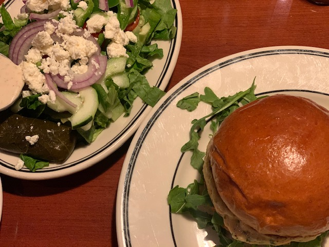 City Diner (Jersey City) salmon burger